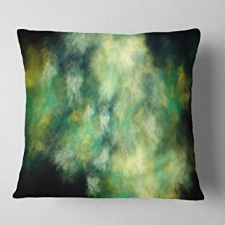 Designart Perfect Green Starry Sky' Abstract Throw Cushion Pillow Cover for Living Room, sofa 18 in. x 18 in