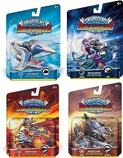 Skylanders SuperChargers Vehicle Character 4 Pack Bundle - Sky Slicer , Sea Shadow , Burn-Cycle , Shark Tank - Dark , Air...
