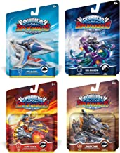 Skylanders SuperChargers Vehicle Character 4 Pack Bundle - Sky Slicer , Sea Shadow , Burn-Cycle , Shark Tank - Dark , Air , Earth , Fire , Land , Sea , Sky Variety