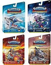 Skylanders SuperChargers Vehicle Character 4 Pack Bundle - Sky Slicer , Sea Shadow , Burn-Cycle , Shark Tank - Dark , Air , Earth , Fire , Land , Sea , Sky Variety