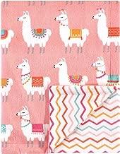 Hudson Baby Unisex Baby Plush Reversible Mink Blanket, Llama, 30x40 inches