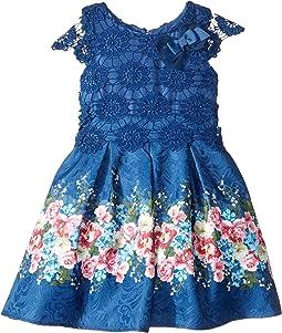 Cap Sleeve Lace Popover Dress (Toddler/Little Kids)