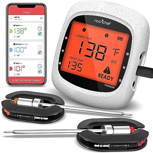 Termómetro inteligente con Bluetooth para parrilla y barbacoas, Smart Thermometer, Una talla, 1