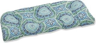 Pillow Perfect Outdoor | Indoor Delancey Lagoon Wicker Loveseat Cushion
