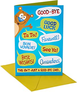 American Greetings Funny Goodbye Card (Packable Hug)