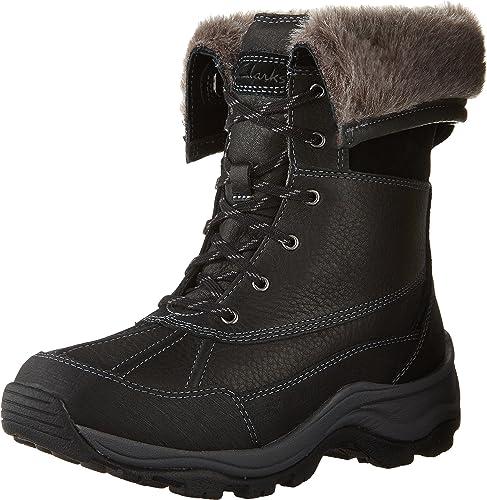 Clarks damen& 039;s Arctic Venture Waterproof Stiefel,schwarz Leather Waterproof,US 5.5 M