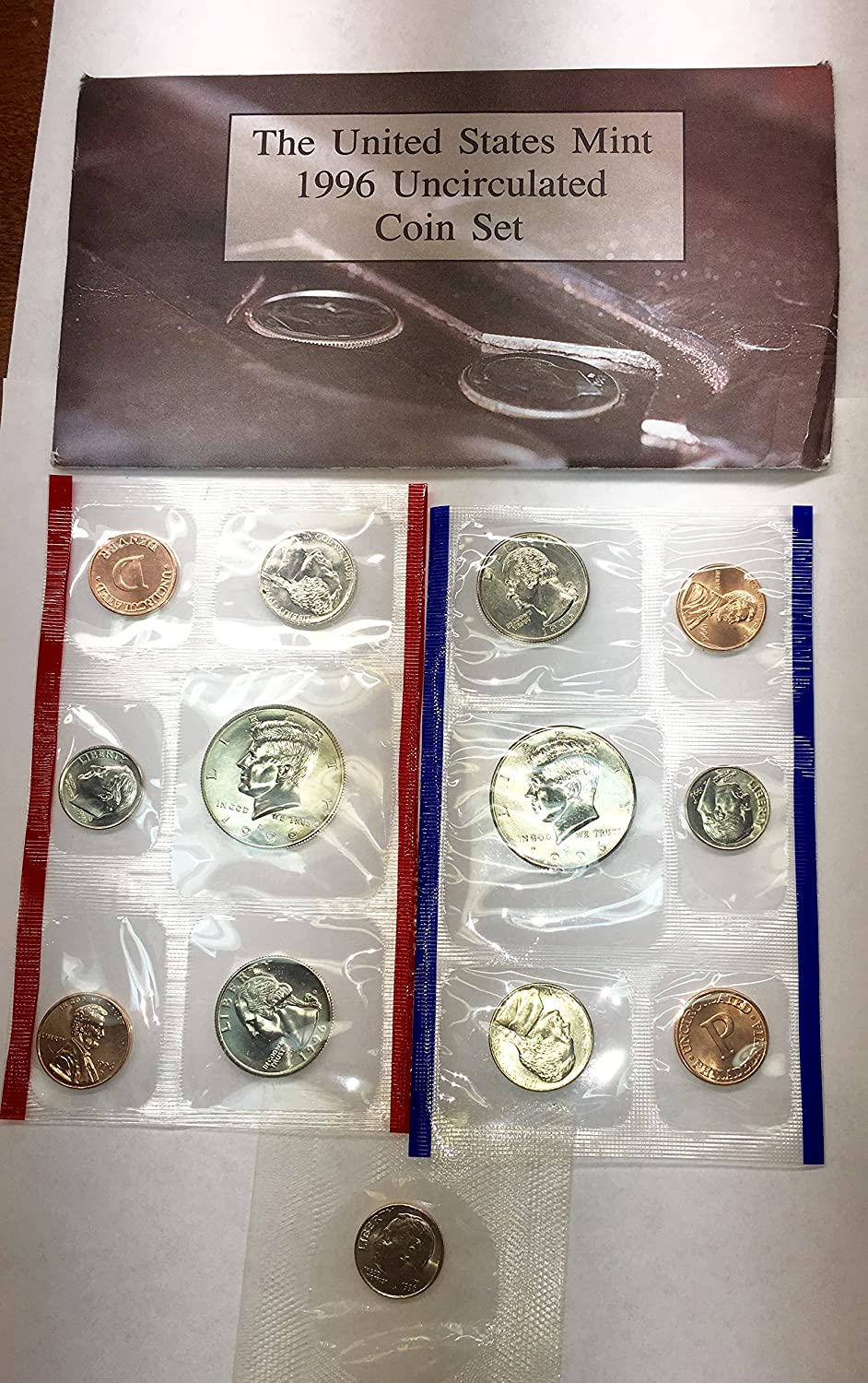 1996 P D US Mint Set 11 the Piece Mi Cheap sale Houston Mall from Comes in Packaging