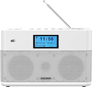 Kenwood CR ST50DAB W Stereo Kompaktradio (DAB+, UKW, Bluetooth, Line In, Kopfhöreranschluss, Weckfunktion, Farbe Weiß)