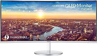 "Samsung Monitor Thunderbolt-3 34"" QLED Curved, 3440 x 1440, HDMI, 100 Hz, 4GTG ms, Metallic Silver/White (Modelo LC34J791WTLXZX)"