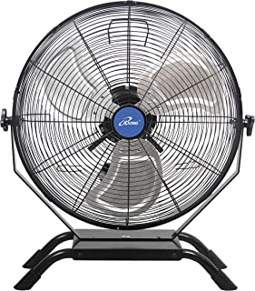 iLIVING Wall Mounted/Floor Stand Variable 20 Inches Speed Indoor/Outdoor Weatherproof Fan, Industrial grade for Patio, Gre...