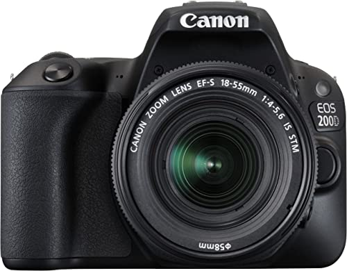 Canon EOS 200D 24.2MP Digital SLR Camera with EF-S 18-55 mm is STM Lens and EF-S 55-250 mm is STM Lens/Camera Case product image
