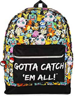 Pokemon GOTTA CATCH EM ALL Official Backpack School Bag with Adjustable Straps