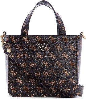 Guess Layla Mini Tote Bag Brown Logo