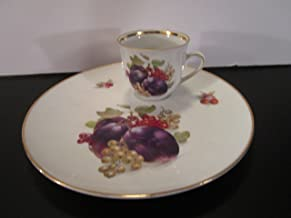 Schumann Bavaria, Germany Fruit Plate & Cup Set