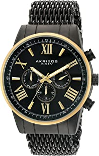 Akribos Xxiv Men's Swiss Quartz Multi-Function Stainless Steel Bracelet Watch