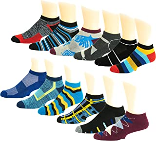 12 Pairs Men's Low Cut Sports Running Athletic Performance Socks
