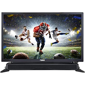 NAXA Electronics NTD-2460 24-inch 720p HD Class LED TV with Built-in Sound Bar & DVD Player, Black
