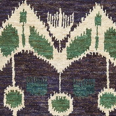 Tapis rectangulaire d'intérieur bohémien noué à la main, collection Bohême, TMF341, en purple haze, 122 X 183 cm pour le salon, la chambre ou tout autre espace intérieur par SAFAVIEH.