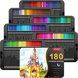 مدادرنگی 180 رنگ سو کالر حرفه ای مناسب رنگ آمیزی بزرگسالان طراحی سایه زدن و مخلوط کردن رنگ ها