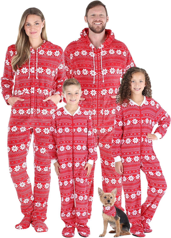 SleepytimePJs Family Matching Christmas Fo Onesies half Fleece Hooded Regular dealer