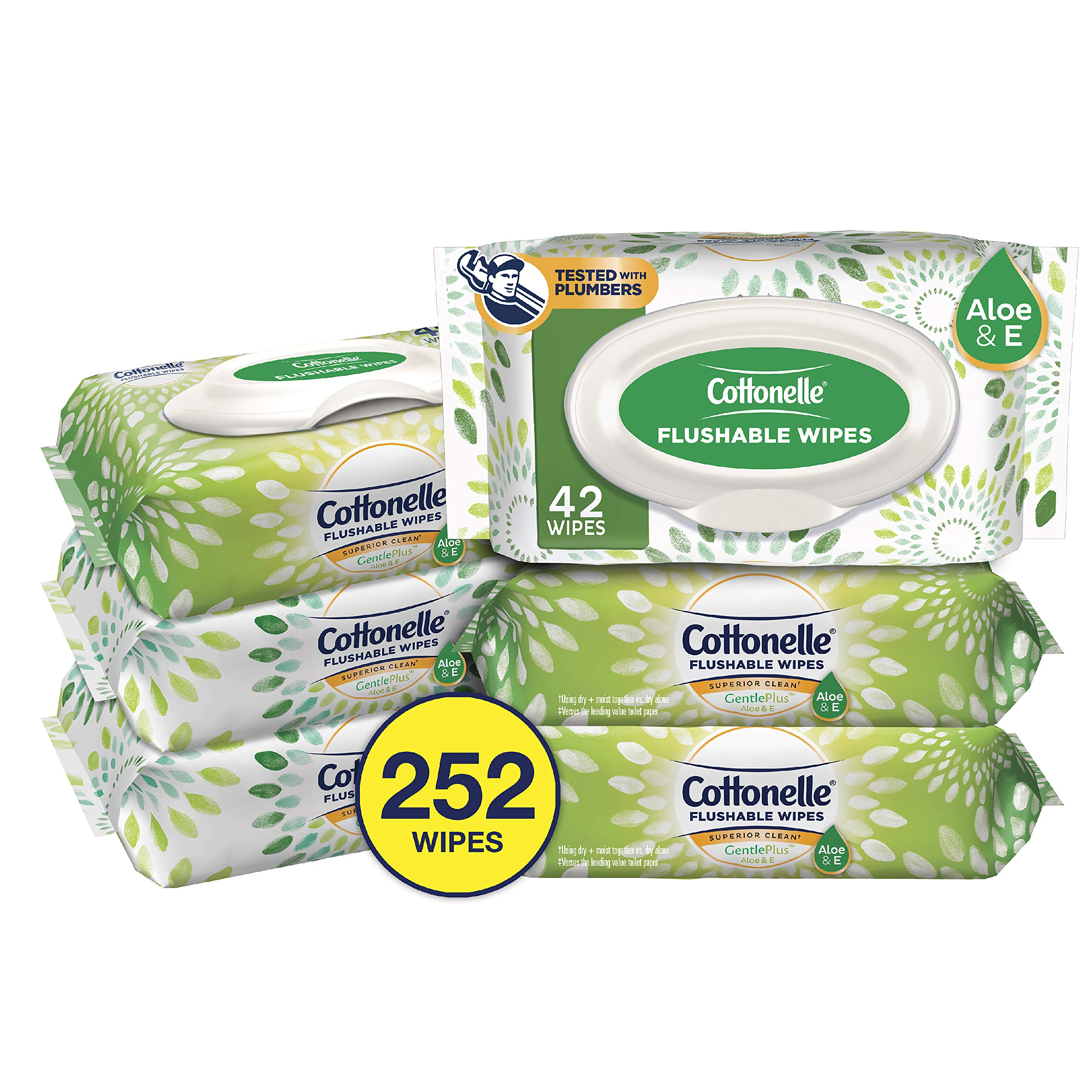 Cottonelle GentlePlus Flushable Wipes Vitamin