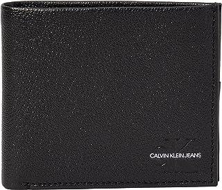 Calvin Klein Men's Denim Collection Accessory-Travel Wallet, Black, One Size