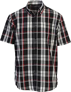 Gioberti Men's Plaid Short Sleeve Shirt