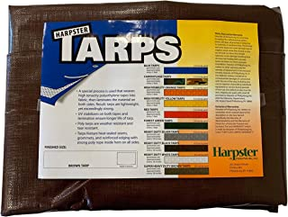 6 Ft. X 20 Ft. Super Heavy Duty 8 Oz. Brown Tarps - 16 Mil Thick