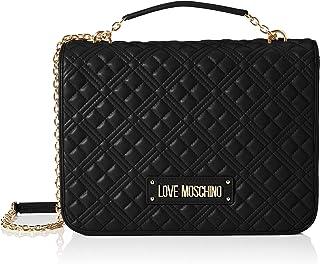 Love Moschino Precollezione Ss21, Borsa a Spalla Grande PU, New Shiny Quilted Donna, Normal