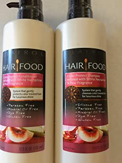 Hair Food Color Protect infused with White Nectarine & Pear Fragrance (CONDITIONER&SHAMPOO)