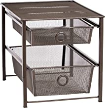 AmazonBasics 2-Tier Sliding Drawers Basket Storage Organizer, Bronze