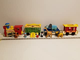 VINTAGE Fisher Price #991 Little People Play Family Circus Train