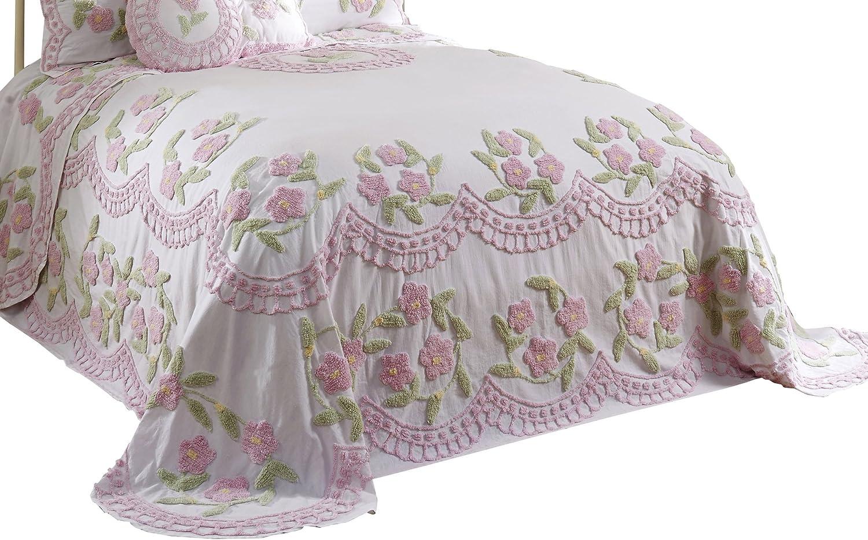 Better Trends  Pan Overseas BSBFTWRO Bloomfield Bedspread, pink, 80  x 110  Twin