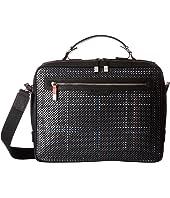 BUGATCHI - Nylon with Leather Trim Brief Case