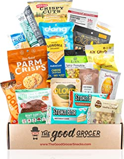 Healthy KETO Friendly Snacks Gift Care Package: Low Net Carb (5g Net Carbs or Less), High Fat, Gluten Free, No Added Sugar, Healthy Fats, Gift Box, Gift Basket Alternative, Variety Pack