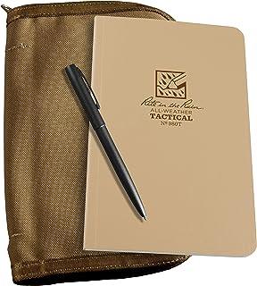 "Rite In The Rain Weatherproof Tactical Field Kit: Tan Cordura Fabric Cover, 4 5/8"" x 7 1/4"" Tan Tactical Notebook, and Wea..."