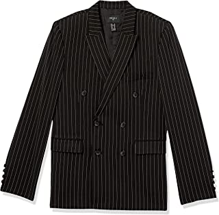 Forever 21 Men's Pinstriped Double-Breasted Blazer