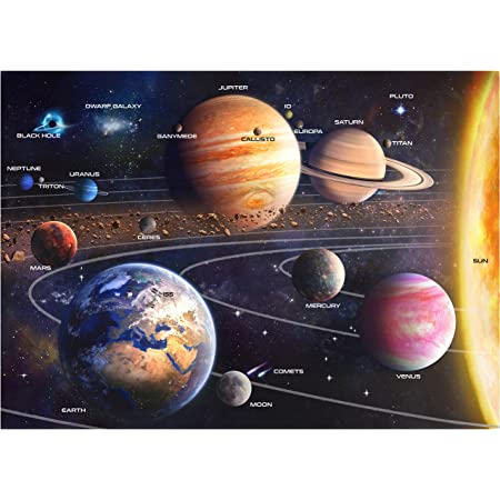 Jigsaw Puzzle for Adult 1000 Pieces Spectacular Planet in Spaces 19.68X27.56Inches Intellectual Decompressing Challenge for Spare Time