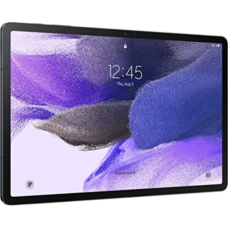 """SAMSUNG Galaxy Tab S7 FE 2021 Android Tablet 12.4"""" Screen WiFi 64GB S Pen Included Long-Lasting Battery Powerful Performance, Mystic Black"""