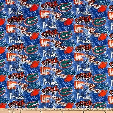 NCAA Florida Gators Tide Graffiti Cotton Fabric by the Yard