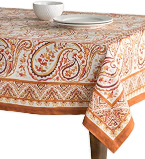 Maison d' Hermine Palatial Paisley 100% Cotton Tablecloth 54 - Inch by 54 - Inch. Perfect for Thanksgiving and Christmas