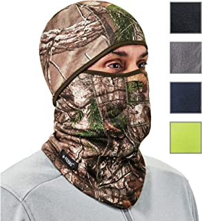 Ergodyne N-Ferno 6823 Winter Ski Mask Balaclava, Wind-Resistant Face Mask, Thermal Fleece, RealTree Camo