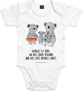 Mr. & Mrs. Panda Mr. & Mrs. Panda Strampler, Bodysuit, 3-6 Monate Baby Body Koala Familie mit Spruch - Farbe Transparent