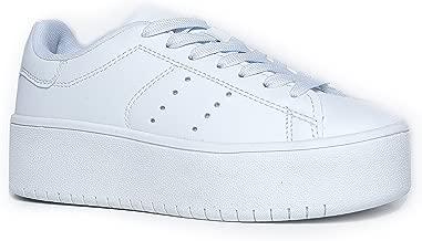 J. Adams Platform Lace Up Sneaker - Casual Chunky Walking Shoe - Easy Everyday Fashion Slip On - Hero