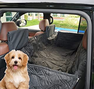 Formosa Covers PAWPALS Dog Car Seat Cover Hammock for Pets Water Repellent Mesh Window Nonslip Durable Anti-Scratch Pet Back Seat Covers for Cars Trucks and SUVs