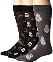 Cufflinks Inc. - The Force Awakens 3-Pair Socks Gift Set