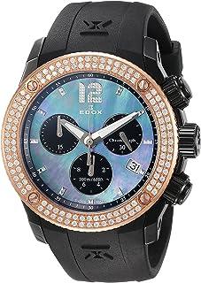 EDOX - CO-1 Reloj de Mujer Cuarzo 38mm Correa de Goma 10411 37NR120D NANN