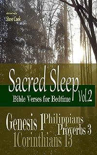 Sacred Sleep Vol.2: Bible Verses for Bedtime (Genesis 1, Philippians, 1Corinthians 13, Proverbs 3) (English Edition)