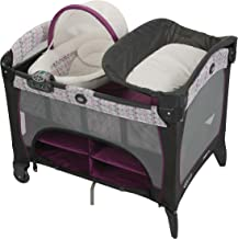 Graco Pack 'n Play Playard | Includes DLX Newborn Napper, Full-Size Infant Bassinet, and Diaper Changer, Nyssa