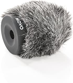 Movo WS-G60 Furry Rigid Windscreen for Microphones...